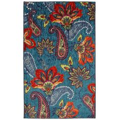 @Overstock.com - Bella Donna Multi Area Rug - This paisley pattern is an explosion of color and style. Meant for a bold impact, this design creates a vivid center point for your space  http://www.overstock.com/Home-Garden/Bella-Donna-Multi-Area-Rug/7569479/product.html?CID=214117 $81.69
