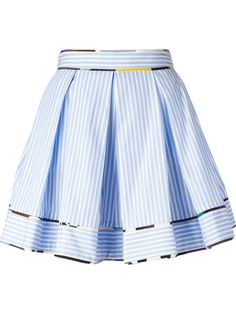 for MSGM striped pleated skirt Skater Skirt Dress, Blue Pleated Skirt, Stripe Skirt, Aesthetic Grunge Outfit, Really Cute Outfits, Cotton Skirt, Msgm, Clothes For Women, Polyvore Fashion