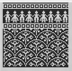 View album on Yandex. Tapestry Crochet Patterns, Fair Isle Knitting Patterns, Knitting Charts, Knitting Stitches, Knitting Designs, Motif Fair Isle, Fair Isle Chart, Fair Isle Pattern, Crochet Chart