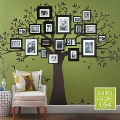 Family Tree Wall Decal, Family Tree Decal, Tree decal - Simple Shapes Wall Decals, Furniture, and Accessories Tree Decals, Kids Wall Decals, Nursery Wall Decals, Wall Stickers, Nursery Decor, Cadre Design, Wall Design, Create A Family Tree, Family Trees