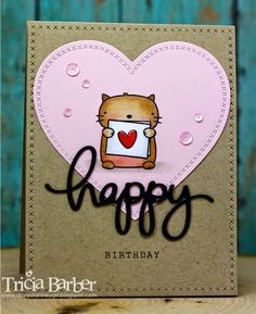 I just love this stamp set from Mama Elephant. Cat Cards, Kids Cards, Greeting Cards, Happy Birthday Mama, Mama Elephant Stamps, Animal Cards, Card Making Inspiration, Card Maker, Homemade Cards