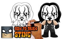 Happy Friday everyone! Today I'll be showing you How to Draw Sting from the WWE. Check out our Wrestlers Playlist and send us your requests in the comments b. Sick Drawings, Easy Cartoon Drawings, Disney Drawings, Easy Drawings, Simple Cartoon, Cartoon Kids, Shopkins Drawings, Cartooning 4 Kids, Cartoon Network Characters