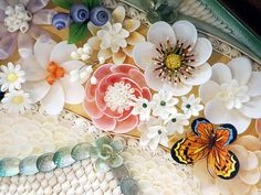Sailors' Valentines Gallery :: Sailors' Valentine Art by Judy Dinnick Seashell Art, Seashell Crafts, Beach Crafts, Crafts To Make, Arts And Crafts, Diy Crafts, Seashell Projects, Shell Flowers, Valentines Art