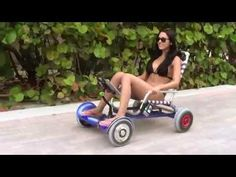 HoverSeat Redefines Hoverboard Safety, Launches on KickStarter - YouTube Homemade Go Kart, Wheelchair Accessories, Utility Cart, Bike Design, More Fun, Baby Strollers, Projects To Try, Safety, Product Launch