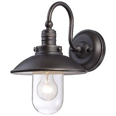 Downtown Edison Domed Outdoor Wall Sconce by Minka-Lavery at Lumens.com