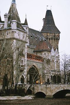 The gorgeous Vajdahunyad Castle in Budapest, Hungary.