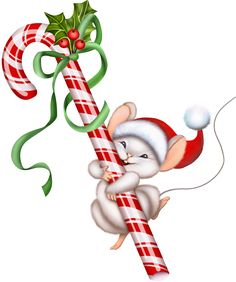 Christmas Candy #Christmas #candy cane and mouse