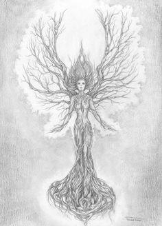 beautiful woman in a tree tatoo - Google Search