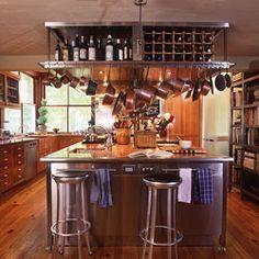 love the overhead wine racks