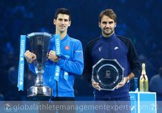 - #NovakDjokovic wins a record fourth straight #ATPWorldTourFinals title with a 6-3 6-4 victory over #RogerFederer.