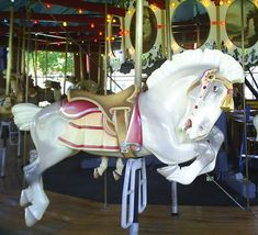 West Endicott Park Carousel Allan Herschell Outside Row Jumper - Classic! Victorian Dollhouse, Modern Dollhouse, Reborn Dolls, Reborn Babies, Baby Dolls, Go Ride, Carnival Rides, Wooden Horse, Miniature Dolls