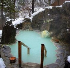 Hot tub in the mountains