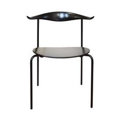 Ch88 Stacking Chair Black Hans J. Wegner