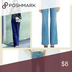 Joor wide leg jeans sz 28 Nothing more important In this jeans are than the color . You usually don't see this color on jeans . Beautiful blue. Wide legs worn but as you wear more tje color get more beautiful . No year no flaw just a beautiful joie jeans . Joie Jeans Overalls