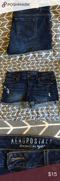 Jean Shorts Aeropostale Jean Shorts - dark blue - size 12 Aeropostale Shorts Jean Shorts