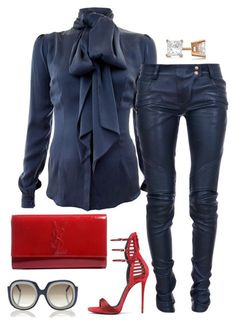 A fashion look from October 2015 by featuring Safiyaa Balmain Giuseppe Zanotti Yves Saint Laurent Allurez and Marni Classy Outfits, Chic Outfits, Fall Outfits, Fashion Outfits, Fashion Trends, Fashion Moda, Look Fashion, Womens Fashion, Casual Chic