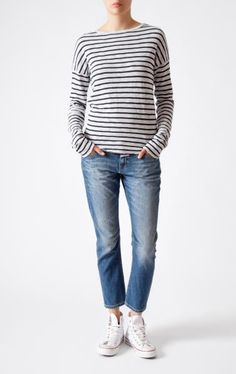 closed | jersey longsleeve w/boyfriend jeans