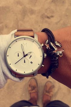 "themanliness: ""The White Chrono from MVMT Watches. Check out all the models on their website. Click the link and use the coupon ""themanliness"" for $10 off your order! Photographer! Join the MVMT """