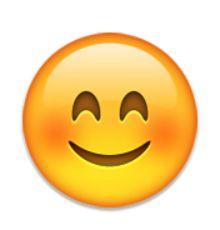 visage souriant avec des yeux souriants