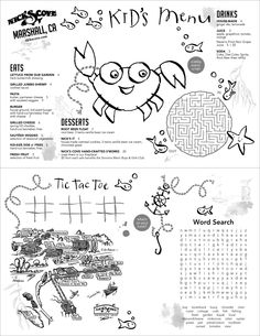 Awesome Nicks Cove Kids Menu Intended For Kids Menu Templates