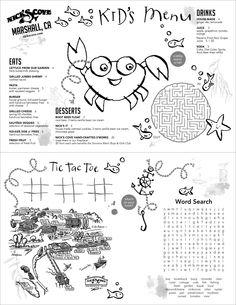 273 Best Restaurant Menu Art Images Kids Menu Menu Restaurant