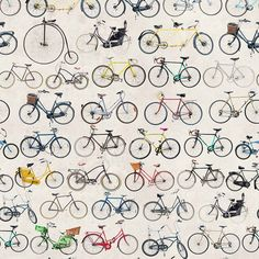 Ella Doran - Bikes of Hackney Wallpaper