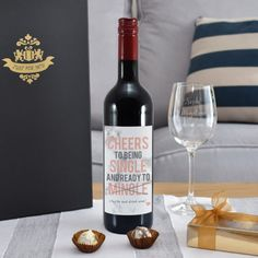 Personalised Cheers To Being Single Red Wine Gift Set Wine Drinks, Alcoholic Drinks, Use Of Capital Letters, Special Symbols, Alcohol Gifts, Wine Gifts, Red Wine, Cheers, Just For You