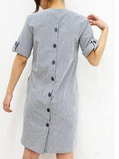 New Dress Simple Informal 50 Ideas Casual Summer Dresses, Trendy Dresses, Short Dresses, Linen Dresses, Cotton Dresses, Dresses With Sleeves, Kurta Designs Women, Blouse Designs, Dress Outfits