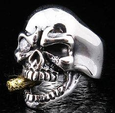 Diamond Mafia Sterling Silver Skull Ring