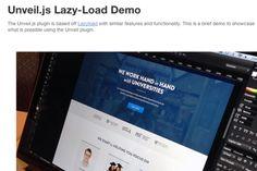 Разработка интерфейса сайта с «ленивой» загрузкой при помощи Unveil.js