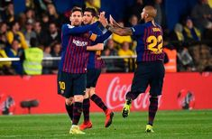 FBL-ESP-LIGA-VILLARREAL-BARCELONA Fc Barcelona, Barcelona Vs Atletico Madrid, Villarreal Cf, Messi Goal Video, Lionel Messi, Ivan Rakitic, Messi Goals, Rcd Espanyol, Football Match