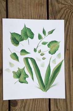 How to Paint Leaves   The Art 123