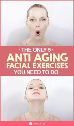 Anti Aging Facial, Anti Aging Tips, Best Anti Aging, Anti Aging Skin Care, Face Yoga Exercises, Facial Exercises For Jowls, Yoga Workouts, Workout Routines, Easy Workouts
