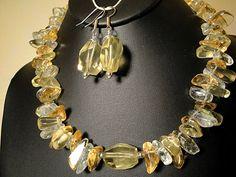 Lemon Quartz Necklace Citrine Prasiolite by TrueEarthDesigns