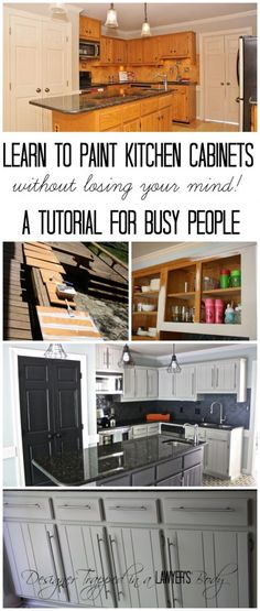 Learn to paint your kitchen cabinets without losing your mind!