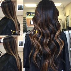✨❤Brunette is beautiful 😍💁🏻❤✨! I love when my clients embrace… Brown Hair Balayage, Hair Color Balayage, Hot Hair Colors, Brown Hair Colors, Color Melting Hair, Which Hair Colour, Black Hair With Highlights, Beachy Hair, Haircut And Color