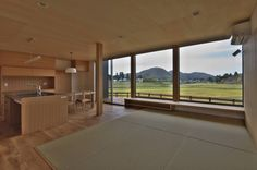 DEMU建築設計事務所 の ラスティックな リビングルーム LDK Japanese Modern, Windows, Interior, House, Indoor, Home, Window, Haus, Interiors