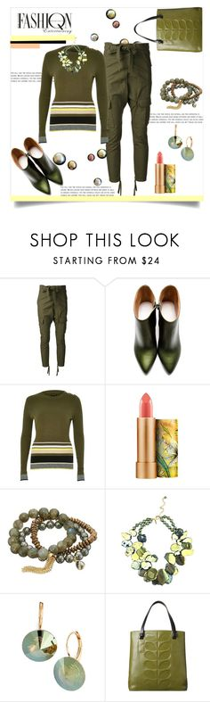 """Fashion Entertaining"" by helenaymangual ❤ liked on Polyvore featuring AR, Maison Margiela, River Island, MAC Cosmetics, Dee Berkley, L. Erickson and Orla Kiely"