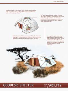Geodesic Refugee Shelter