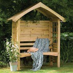 Forest Garden Cadiz Wooden Arbour Garden Seat