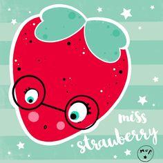 Vedi la foto di Instagram di @mop.idea • Piace a 91 persone     #strawberry #illustration #mopidea      www.mopidea.it