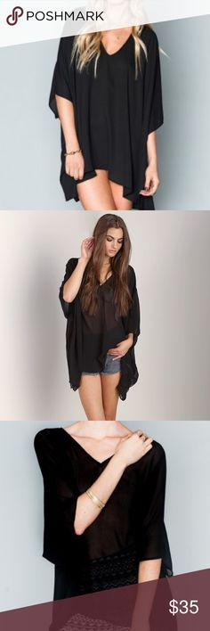 Show Me Your Mumu Black Tunic Can be worn as a tunic or a short dress. Like new. Show Me Your MuMu Tops Tunics