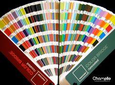 Pantone Color Bridge cards, via Flickr.