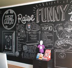 wry baby chalk wall image