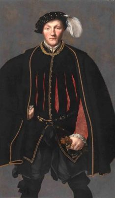 British School, Portrait of a Gentleman, probably of the West Family c.1550 TP20> SEE ABSOLUTELY BRILLIANT ARTICLE