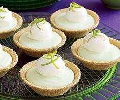 Mini Lime Chiffon Pies