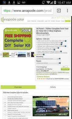 Watt Solar Panel Kit