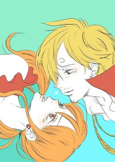 One Piece, Strawhat Pirates, Sanji, Nami
