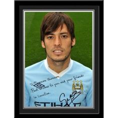 David Silva Signed PhotoThis is a fantastic present for any Manchester City fan and is approved and fully licensed by Man City.    This is a unique gift displaying the player's photo and a personalised message alongside his replica printed autograph.     Choose from Adam Johnson, Kolorov,  Pantilimon,Tevez, Silva, Dzeko, Clichy, Barry, Hart, Milner, Kolo Toure, Ballotelli, De Jong, Zabaleta, Mancini, Kompany, Yaya Toure, Nasri, Aguero & Savic. Kolo Toure, Adam Johnson, Manchester City, Gifts For Boys, Unique Gifts, David, Football, Messages, Fan
