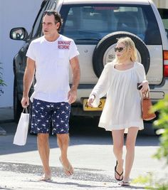 Ashley Olsen was recently spotted in a breezy-chic look with her boyfriend, Richard Sachs, in St. Barths. Steal her style for your next tropical getaway with a with a pair of shades, a white linen dress, basket bag, and flip flops.